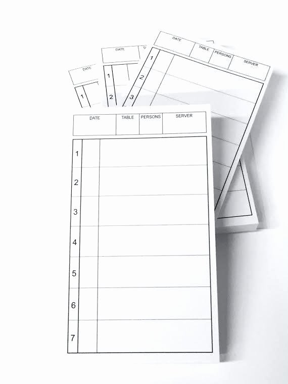 Restaurant order Pad Template Awesome 91 Restaurant order Pads Template Document for Bakery