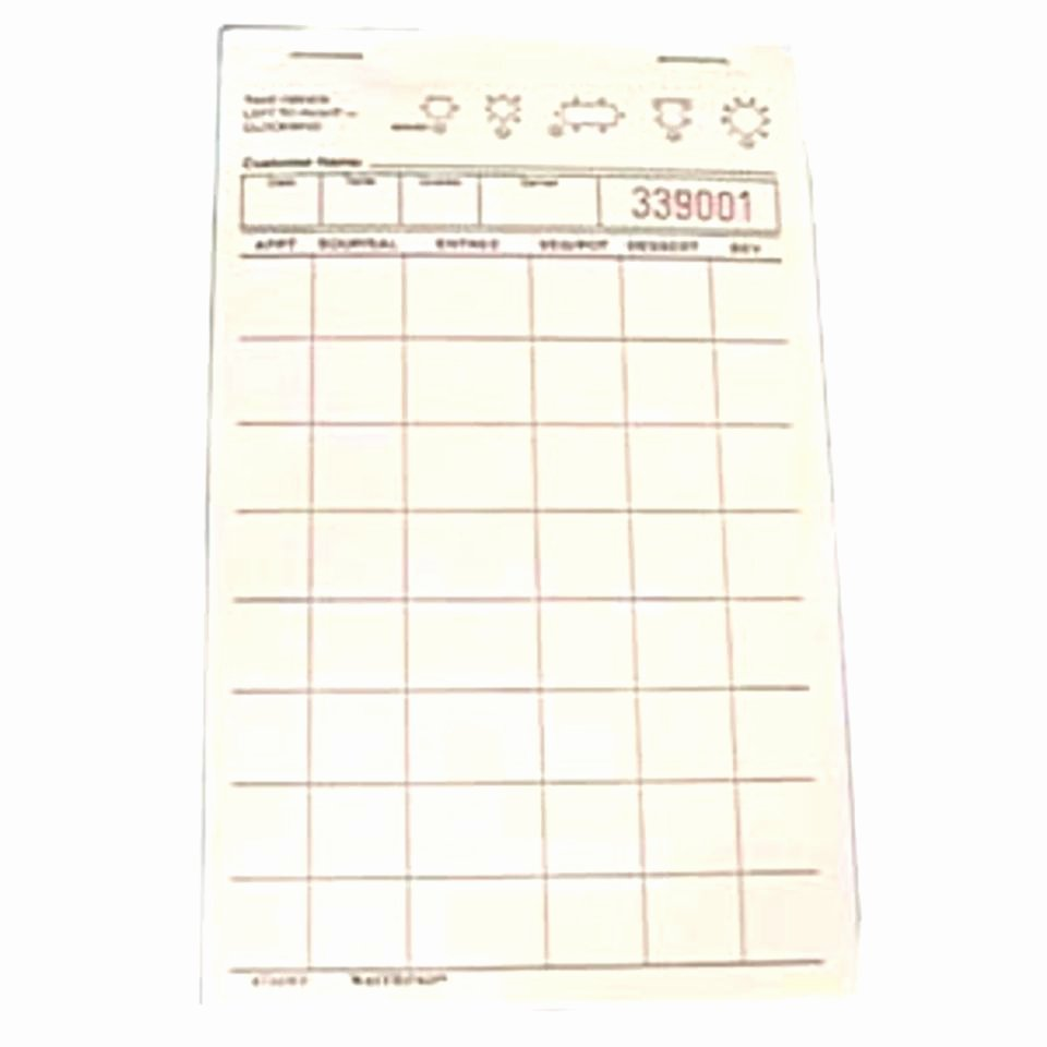 Restaurant order Pad Template Awesome Free Restaurant order Pad Template