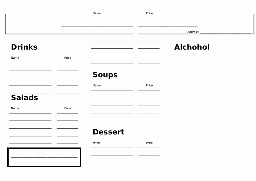 Restaurant order Pad Template Beautiful 77 Free Restaurants and Cafes Worksheets