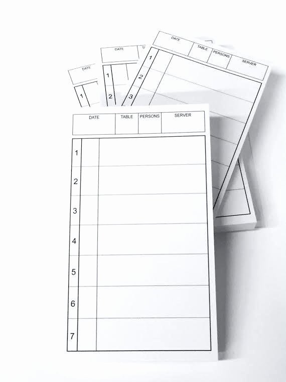 Restaurant order Pad Template Fresh Server order Pad – Ready2launch