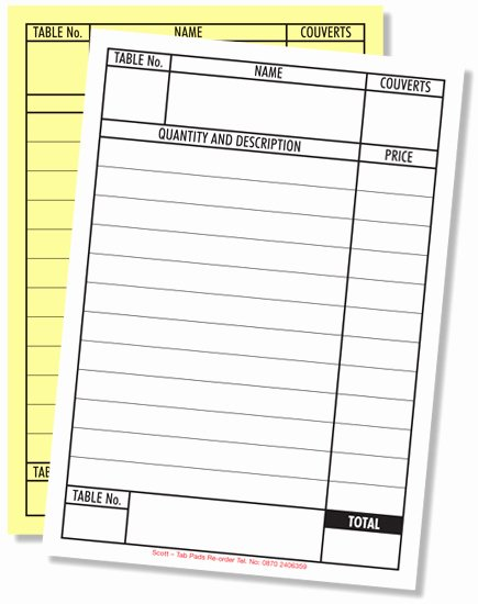 Restaurant order Pad Template Luxury 91 Restaurant order Pads Template Document for Bakery