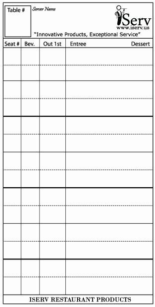 Restaurant order Pad Template New 18 Best Server Accessories Images On Pinterest