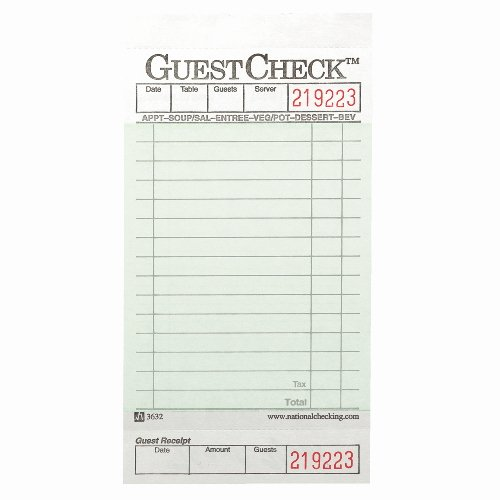 Restaurant order Pad Template New National Guestchecks Restaurant Guest Check Pads Sku Ntc525