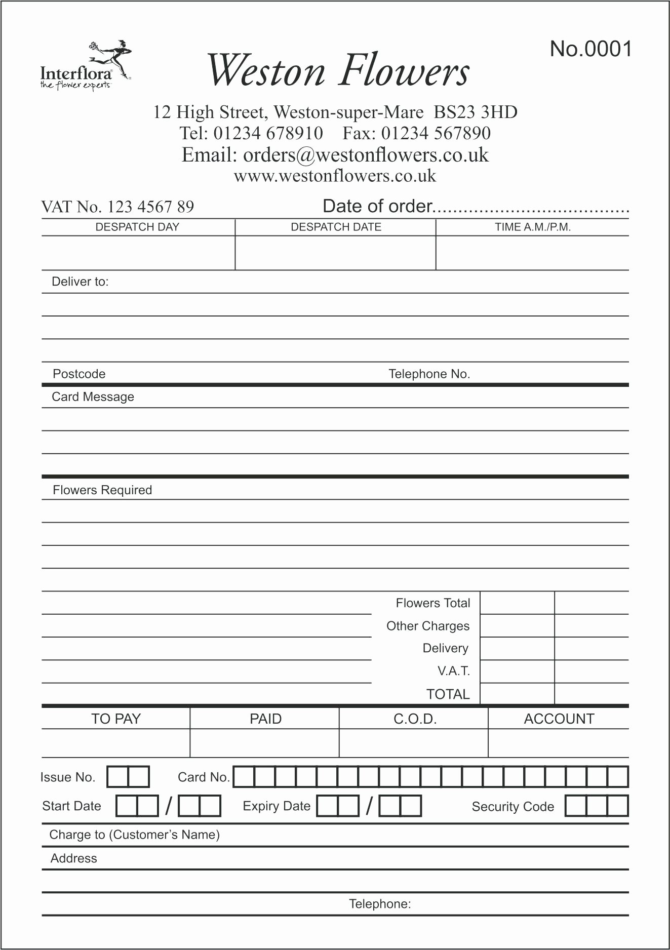 Restaurant order Pad Template Unique Restaurant order Pad Template