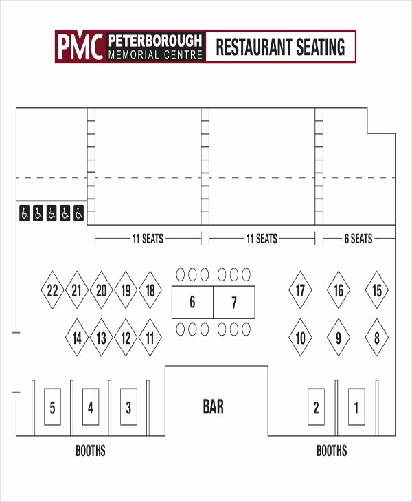 Restaurant Seating Chart Template Excel Lovely 5 Table Chart Templates Free Samples Examples format