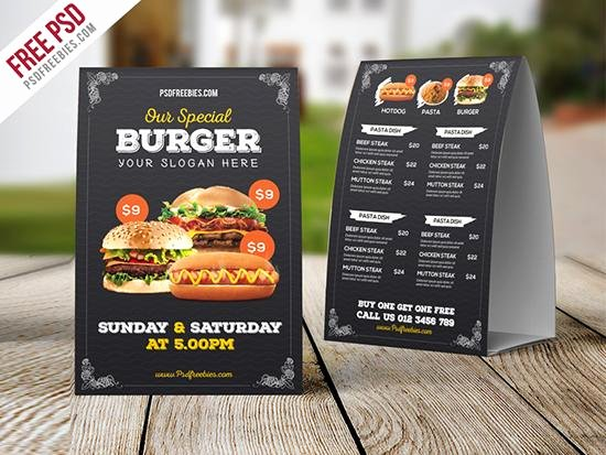 Restaurant Table Tent Template Awesome 12 Tent Table Card Mockups & Psd Templates