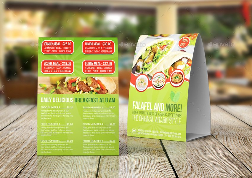 Restaurant Table Tent Template Awesome Restaurant Table Tent Template Vol 18 by Ow