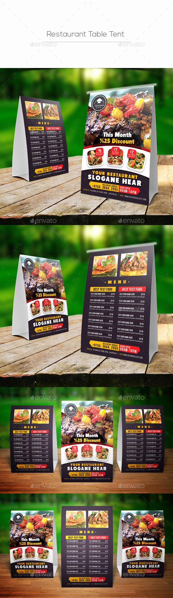 Restaurant Table Tent Template Beautiful Restaurant Table Tent by Designsoul14