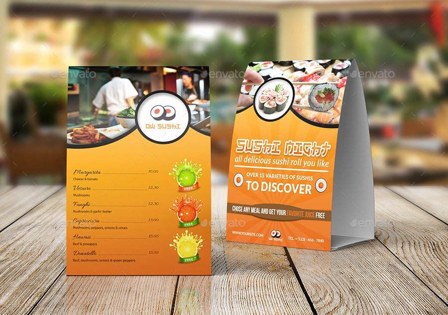 Restaurant Table Tent Template Best Of Restaurant Advertising Bundle Vol 7 by Ow
