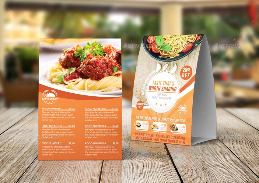 Restaurant Table Tent Template Best Of Restaurant Table Tent Template Vol 15 by Ow