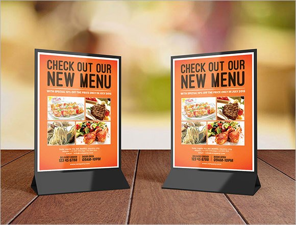 Restaurant Table Tent Template Fresh 9 Table Tent Samples