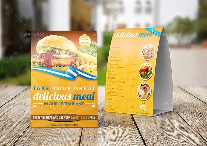 Restaurant Table Tent Template Fresh Table Tent Template 37 Free Printable Pdf Jpg Psd