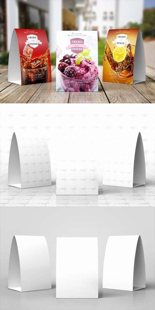 Restaurant Table Tent Template Inspirational Paper Table Tent Mock Up Template Mock Ups