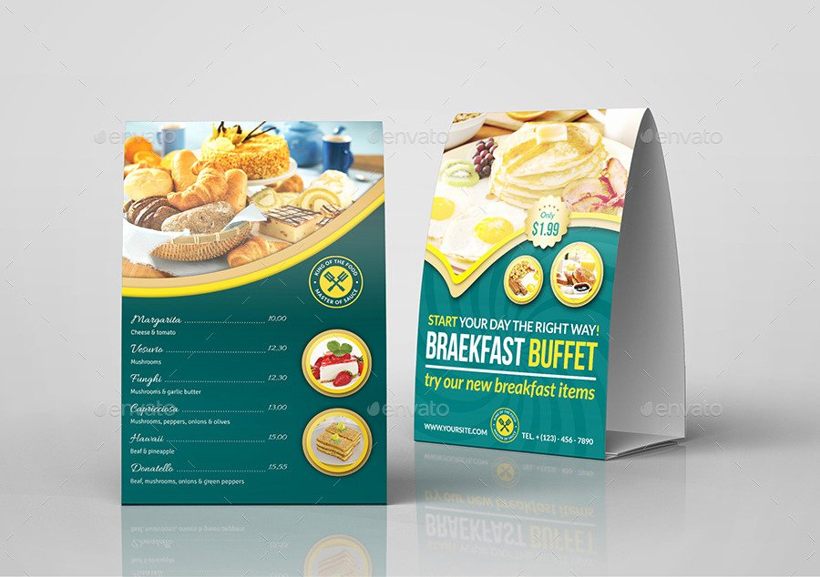 Restaurant Table Tent Template Inspirational Restaurant Advertising Bundle Vol 5 by Ow