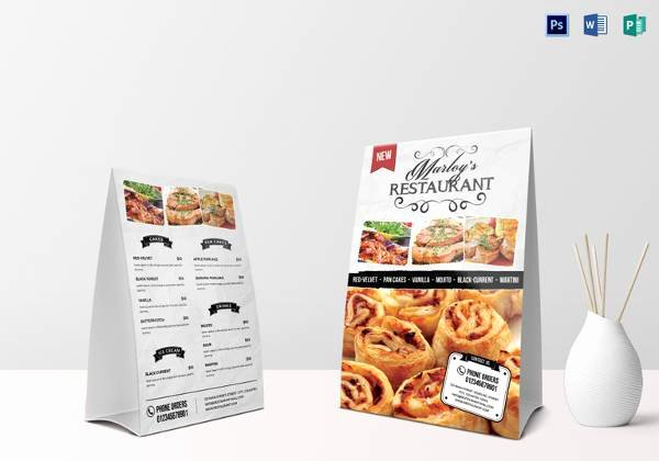 Restaurant Table Tent Template Inspirational Sample Menu Card 35 Download In Psd Pdf Word