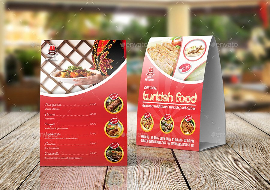 Restaurant Table Tent Template Inspirational Turkish Restaurant Table Tent Template by Ow