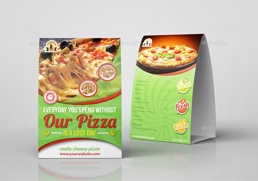 Restaurant Table Tent Template Lovely Pizza Restaurant Table Tent Template by Ow