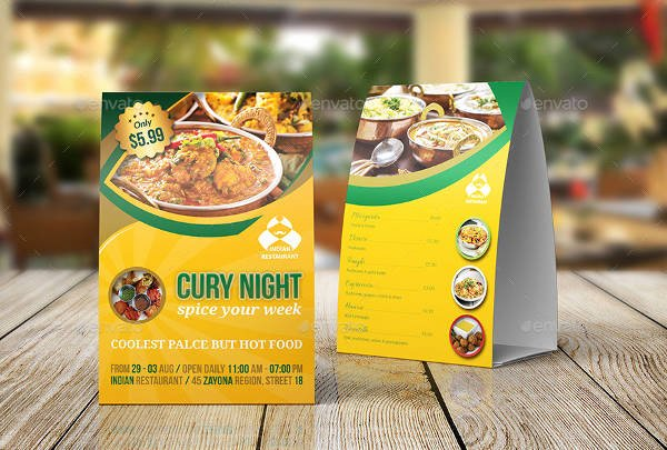 Restaurant Table Tent Template Luxury 20 Beautiful Table Tent Mockups Psd Ai Vector Eps