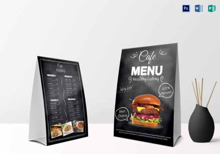 Restaurant Table Tent Template New 15 Restaurant Table Tent Designs & Templates Psd Ai
