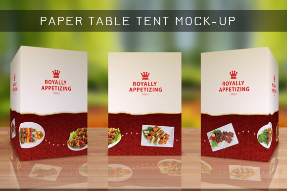 Restaurant Table Tent Template New Table Tent Mock Up Template Vol 8 Product Mockups On