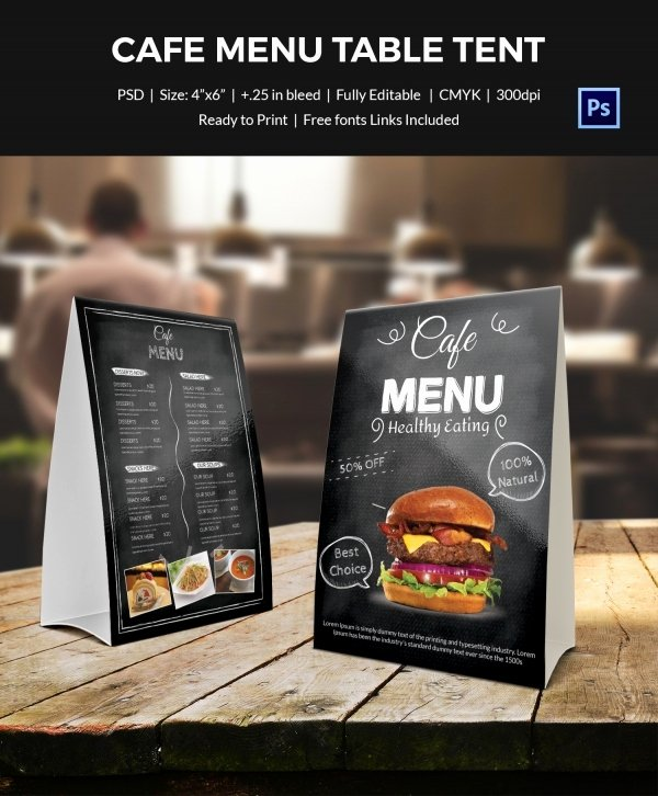 Restaurant Table Tent Template Unique Table Tent Template 37 Free Printable Pdf Jpg Psd