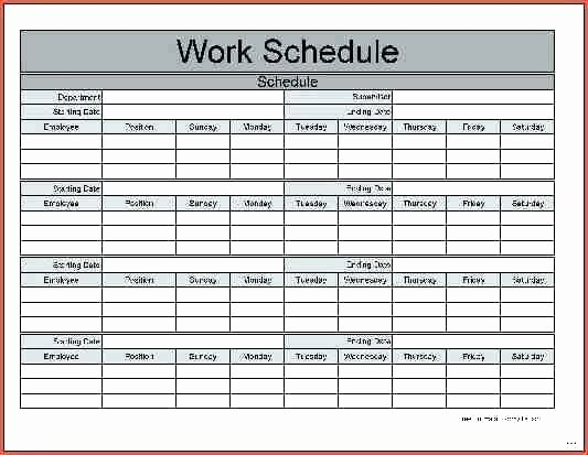 Restaurant Work Schedule Template Awesome Excel Shift Template Employee Schedule Tips Templates