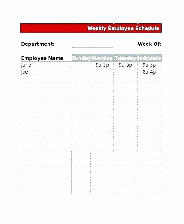 Restaurant Work Schedule Template Awesome Restaurant Shift Schedule Template Free Work Monthly