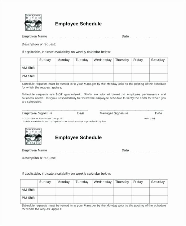 Restaurant Work Schedule Template Best Of Restaurant Shift Schedule Template Work Schedules