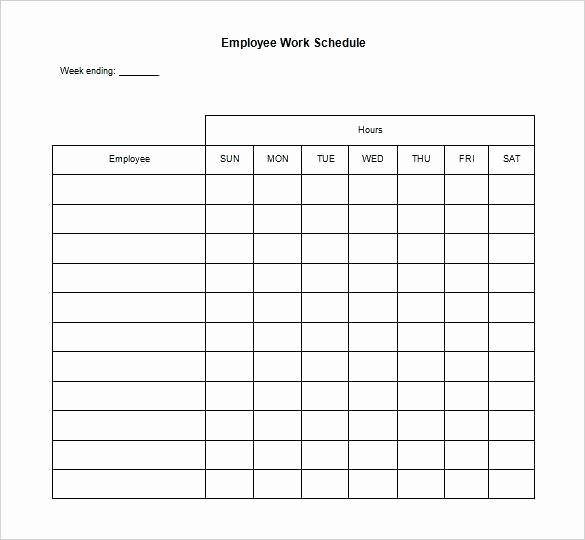 Restaurant Work Schedule Template Inspirational Labor Schedule Template Monthly Staff Schedule Template El