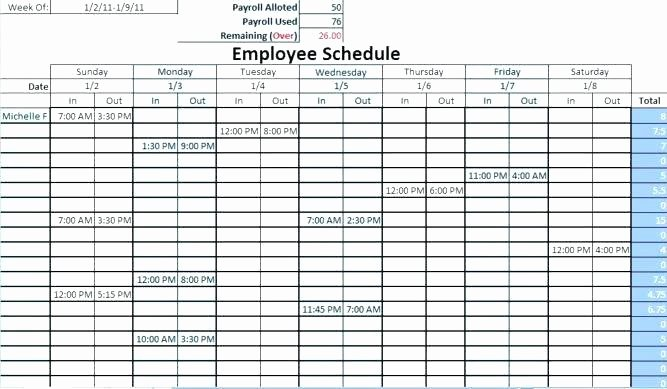 Restaurant Work Schedule Template Lovely Restaurant Shift Schedule Template