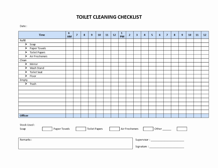 Restroom Cleaning Log Template Awesome Public Restroom Cleaning Checklists