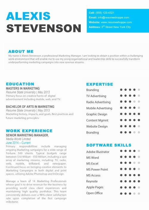 Resume Template for Mac Fresh Apple Resume Template