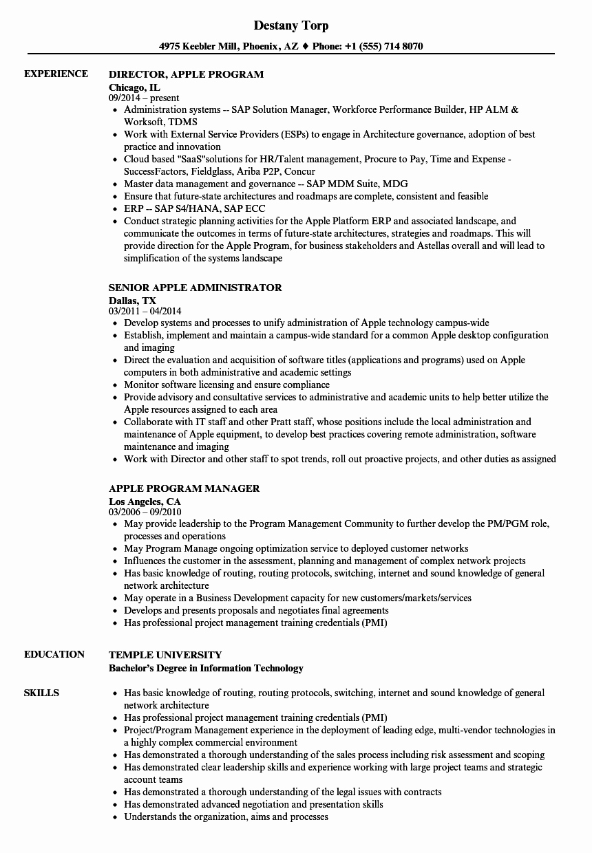 Resume Template for Mac Inspirational Apple Resume Cover Letter for Apple Awesome Resume Cover