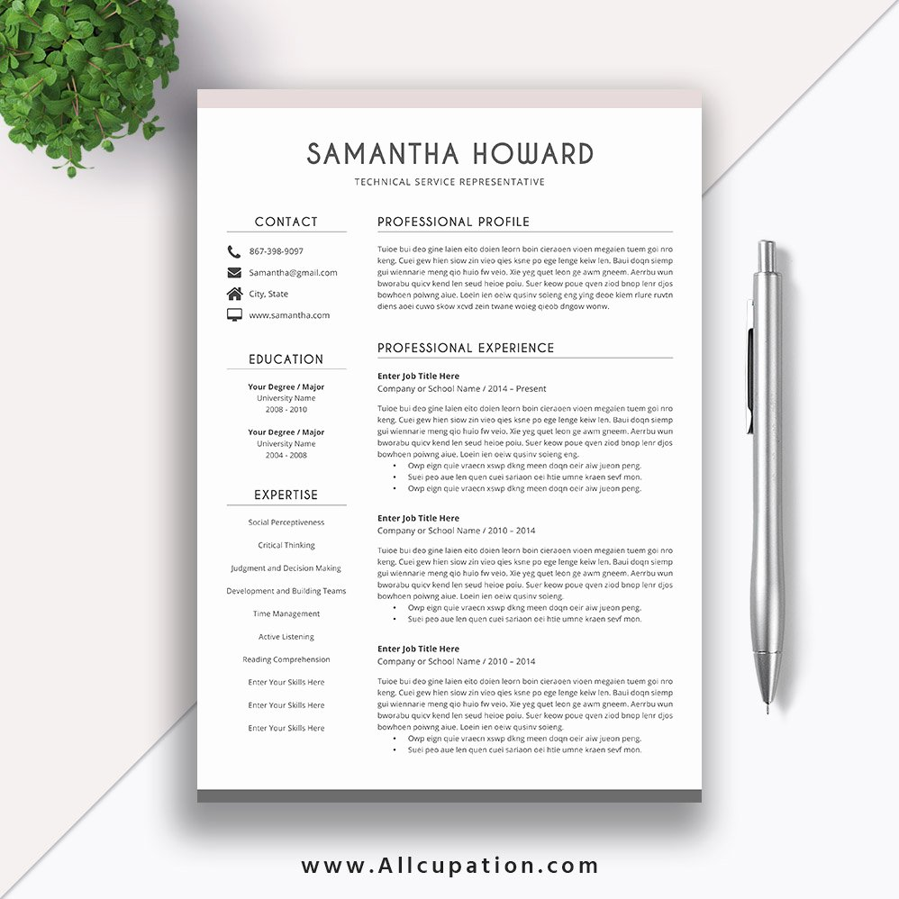 Resume Template for Mac Inspirational Creative Resume Template Modern Cv Template Word Cover