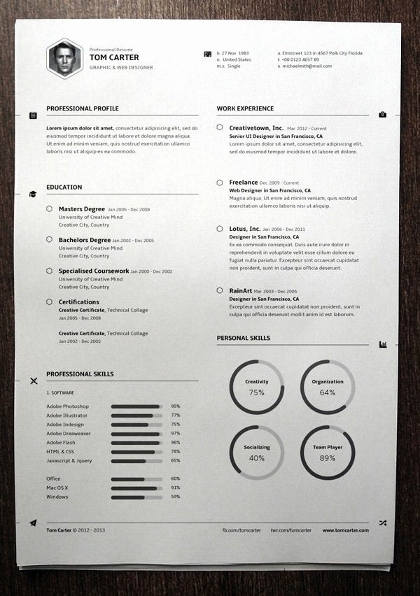 Resume Template for Mac Inspirational Mac Resume Template – 44 Free Samples Examples format
