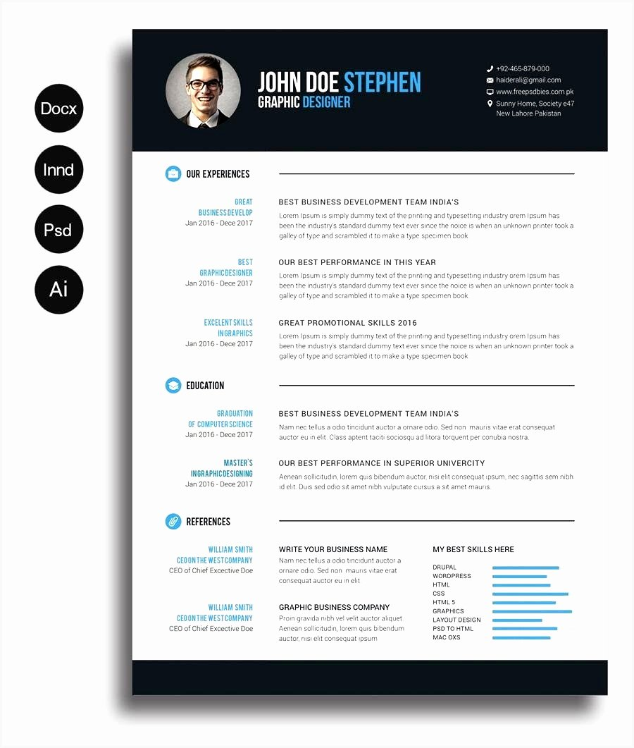 Resume Template for Mac Lovely 5 Cv Template Word Mac Download