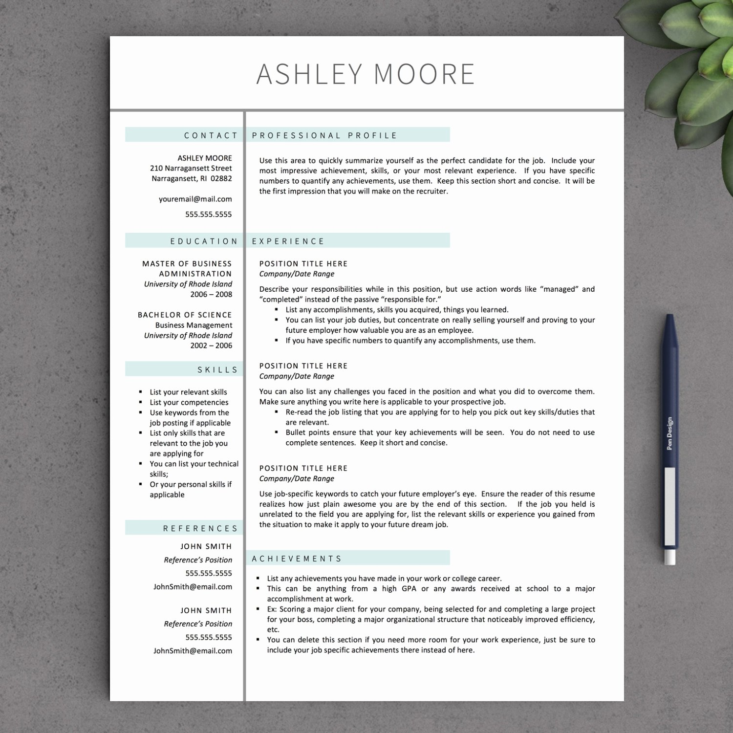 Resume Template for Mac Lovely Free Resume Template