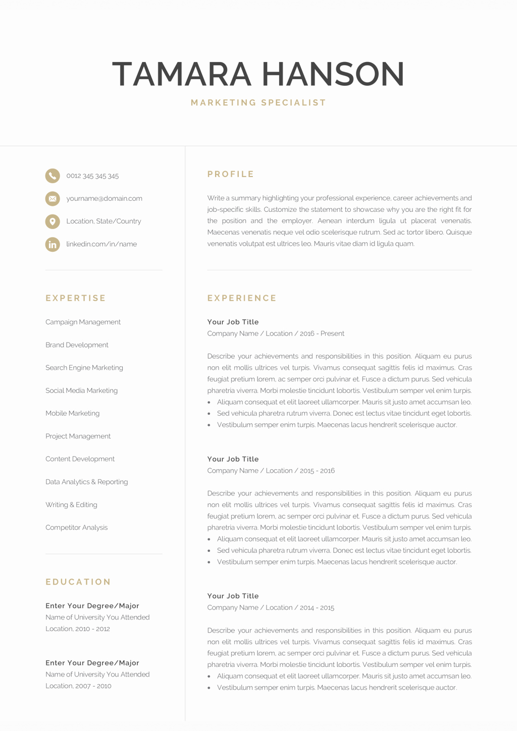 Resume Template for Mac New Free Pages Resume Templates Tag Download Pages Resume