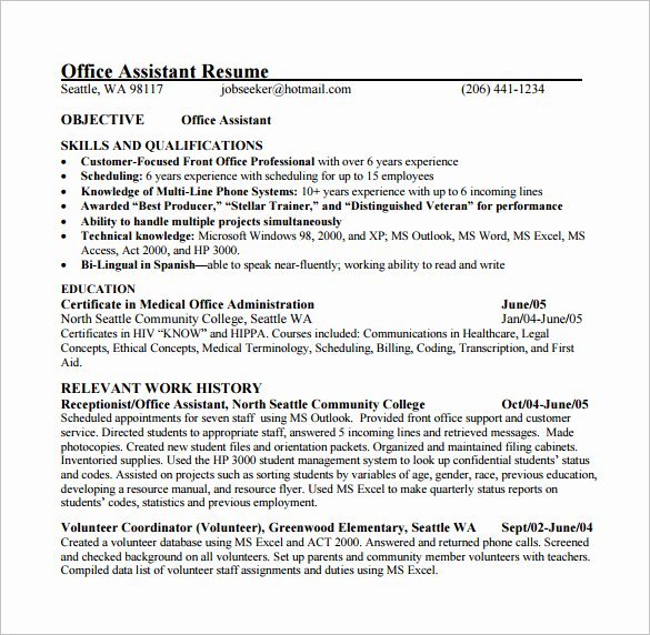 Resume Template for Medical assistant Beautiful 24 Best Medical assistant Sample Resume Templates Wisestep