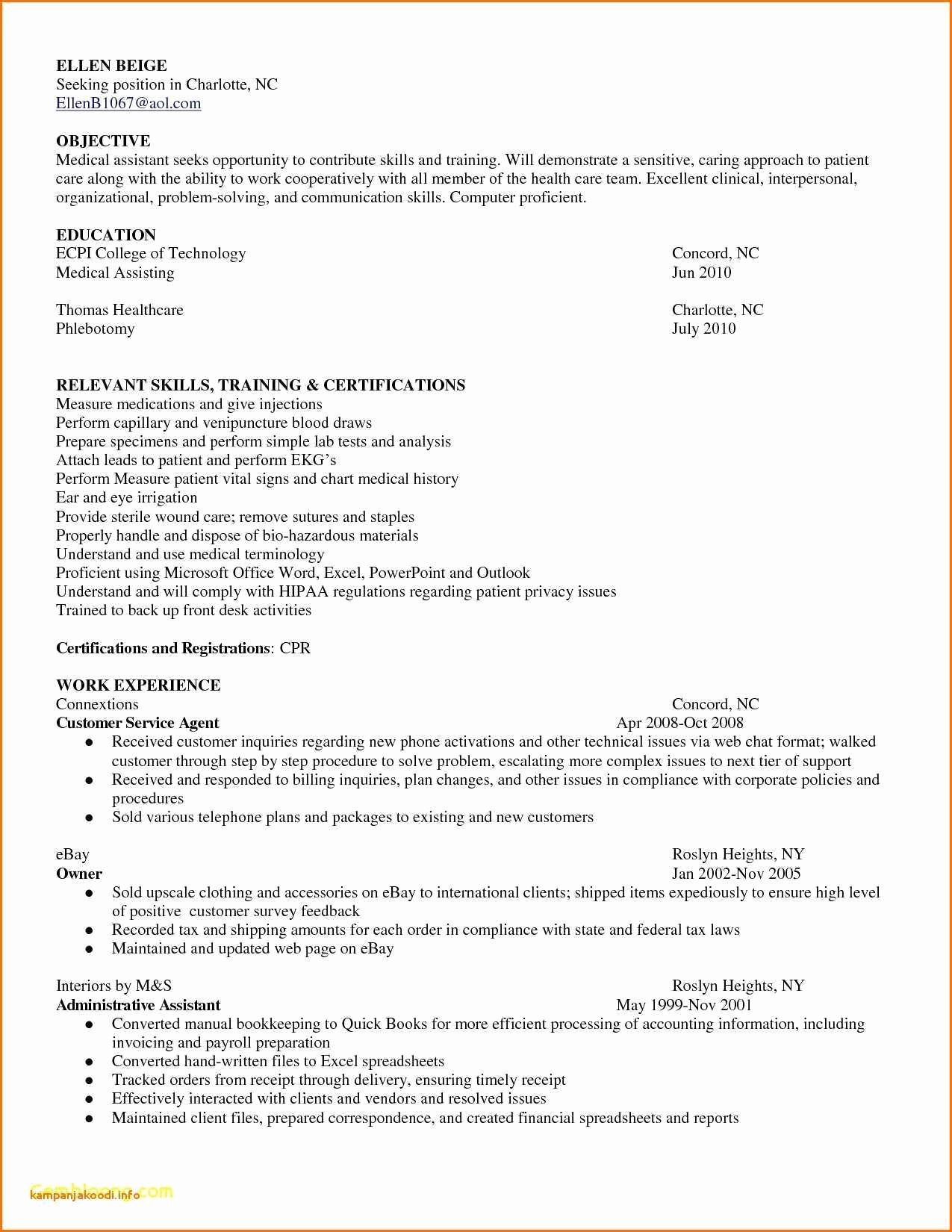 Resume Template for Medical assistant Beautiful Resume Template Free Medical assistant Resume Templates