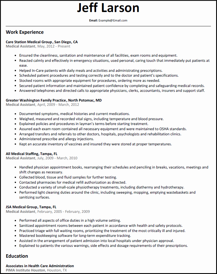 Resume Template for Medical assistant Best Of Family Physician Resume Samples