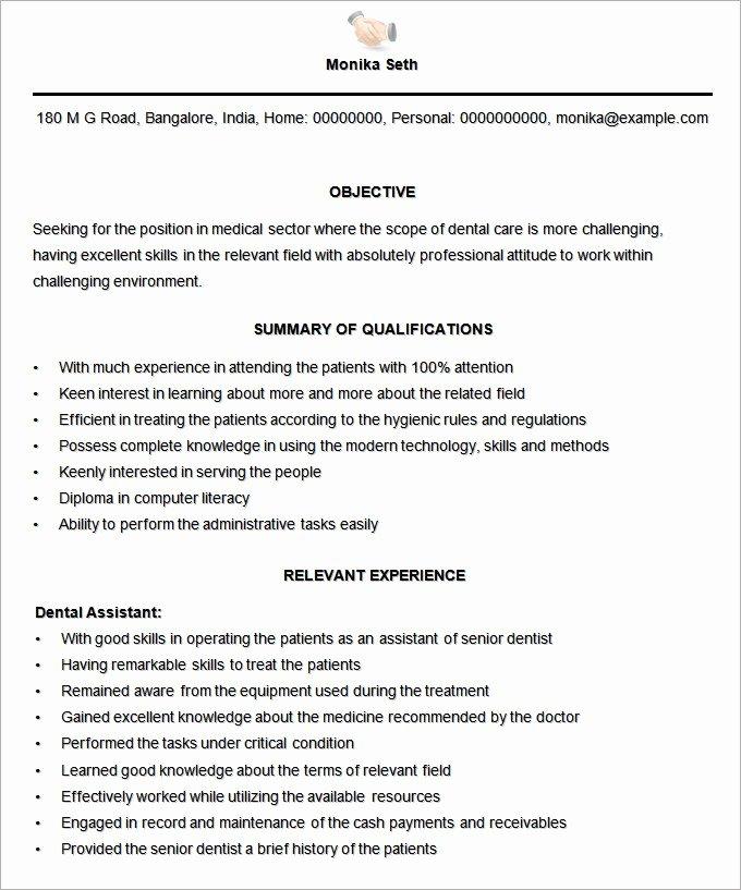 Resume Template for Medical assistant Elegant Microsoft Word Resume Template 49 Free Samples
