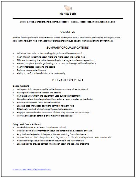 Resume Template for Medical assistant Elegant Professional Curriculum Vitae Resume Template Sample