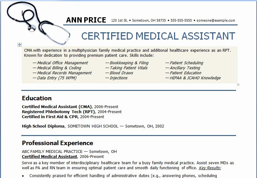 Resume Template for Medical assistant Inspirational Medical assistant Resume Template Need to Show This to My