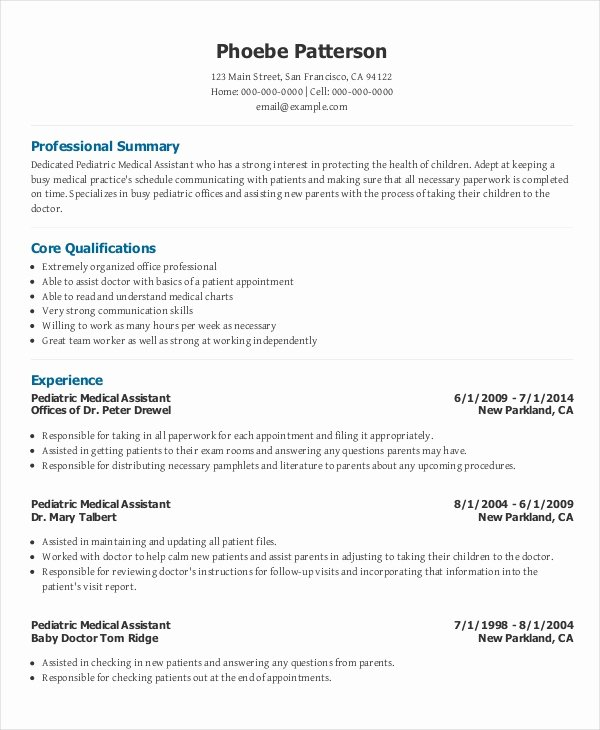 Resume Template for Medical assistant Lovely 10 Medical Administrative assistant Resume Templates