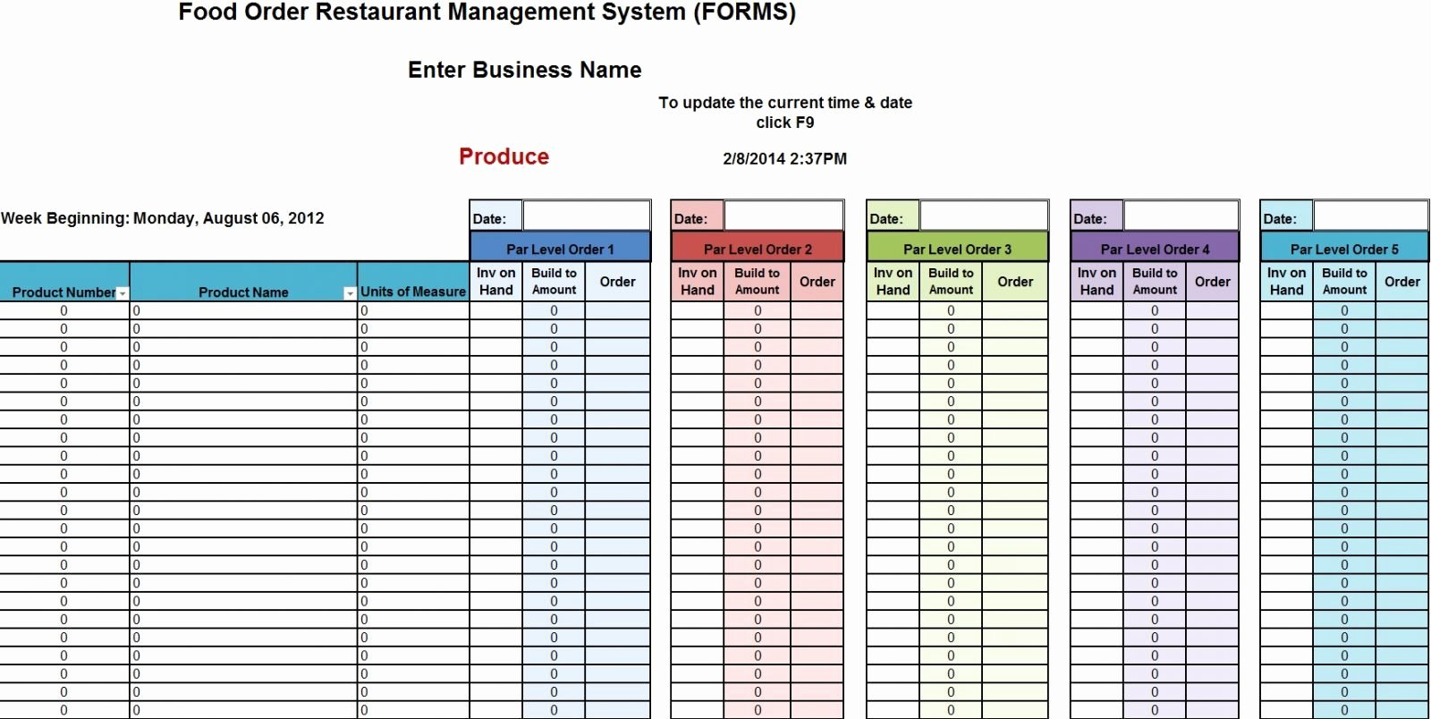 Retail Inventory Excel Template Awesome Stock Control Spreadsheet In Excel Template for Inventory