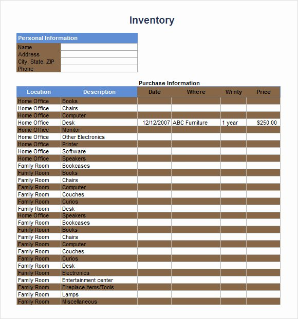 Retail Inventory Excel Template Elegant Inventory Spreadsheet Template 5 Download Free Documents