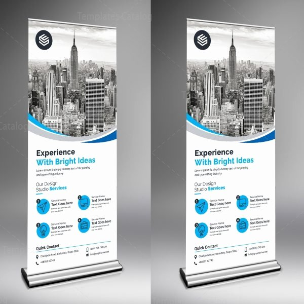 Retractable Banner Design Template Luxury Rigel Creative Roll Up Banner Template Template