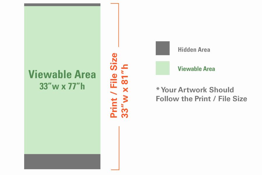 Retractable Banner Design Template Luxury Standard Retractable Banner 33″ X 81″