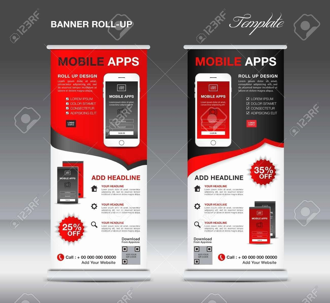 Retractable Banner Design Template Unique Luxury Retractable Banner Template Vector